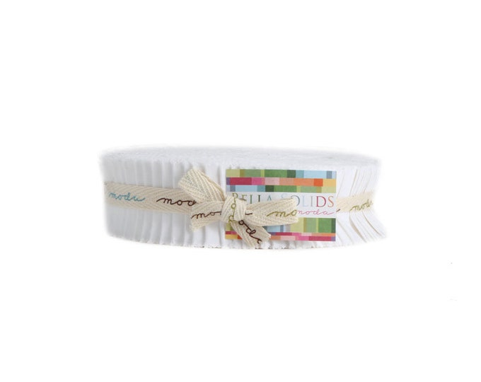 "Moda Honey Bun - 40 - 1.5"" Strips - Bleached White"