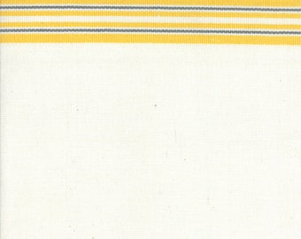 """White with Yellow Toweling by Moda 16"""" Wide - by the yard"""