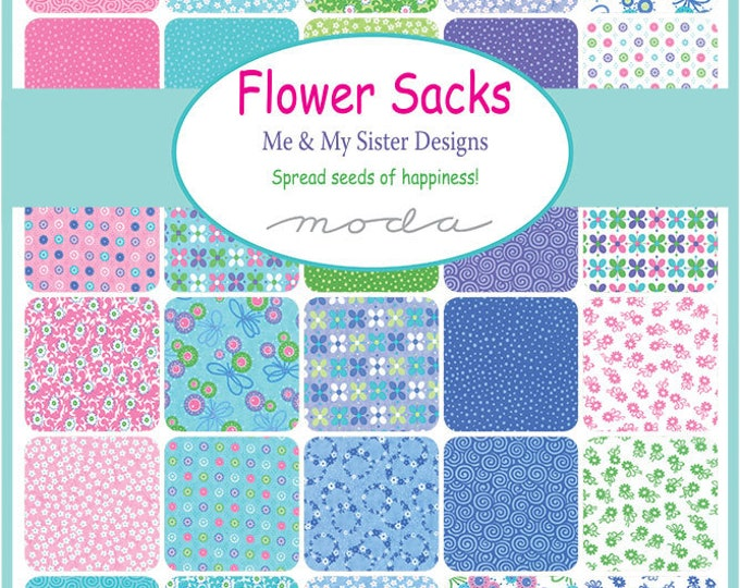"Flower Sacks by Me & My Sister Designs for Moda Jelly Roll 2.5"" x WOF Strips"