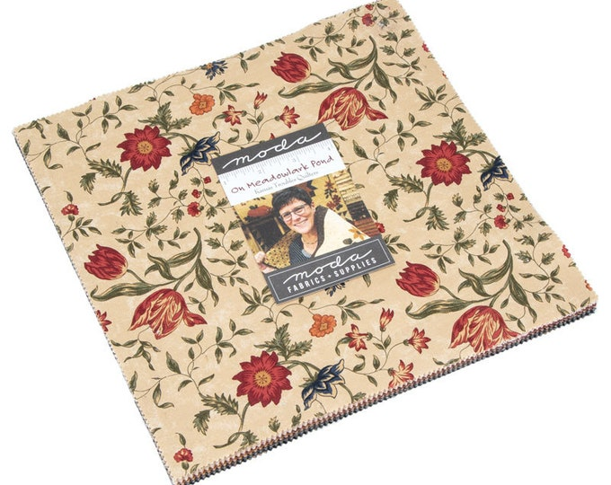 """On Meadowlark Pond by Kansas Troubles Quilters for Moda Layer Cake 40 - 10"""" Squares"""