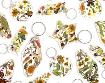 Dried Flowers Keychain