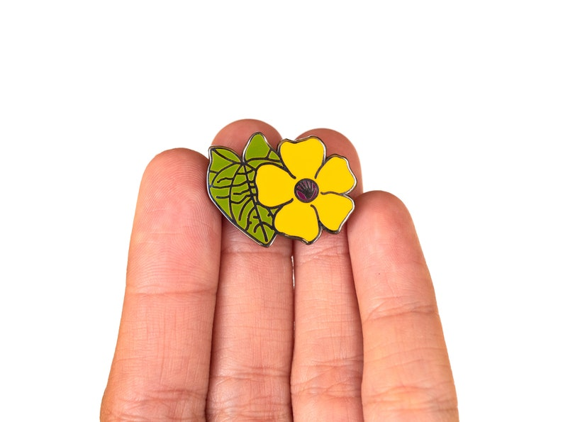 Ojo de Poeta Flowers of Puerto Rico Hard Enamel Pin Black Eyes Susan