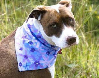 Reversible Dog Bandanas / Floral Slip Over Collar Bandanas