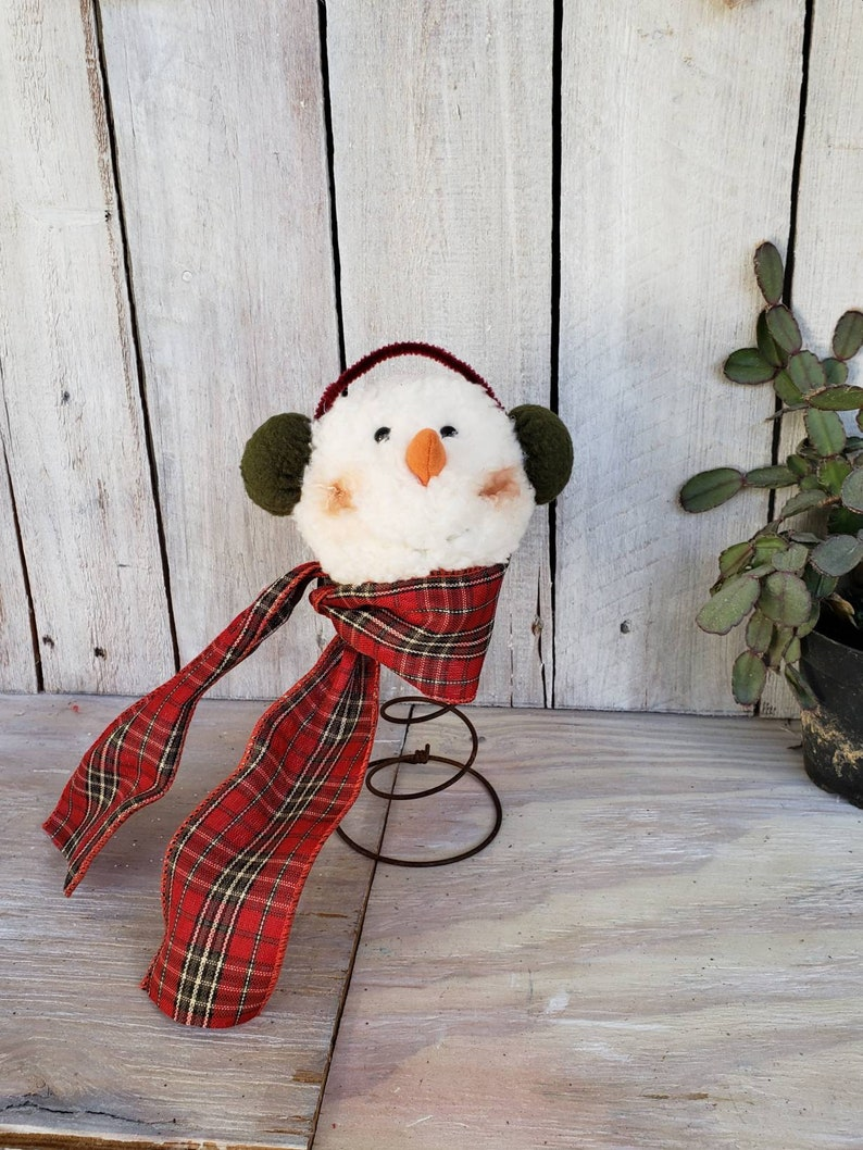 Snowman Christmas Tree Topper Bed Spring Rustic Snowman Bed Spring Craft