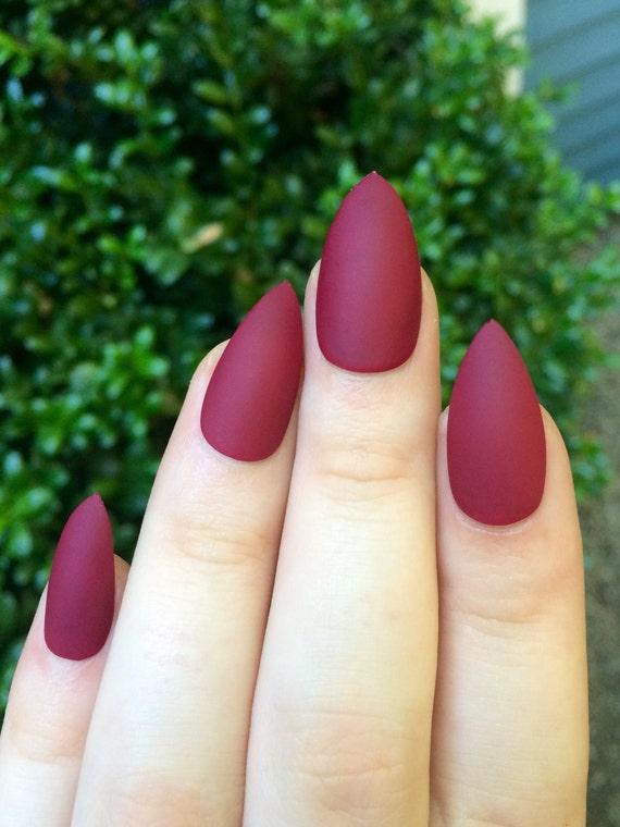 Uñas mates marrón de uñas uñas postizas uñas stiletto