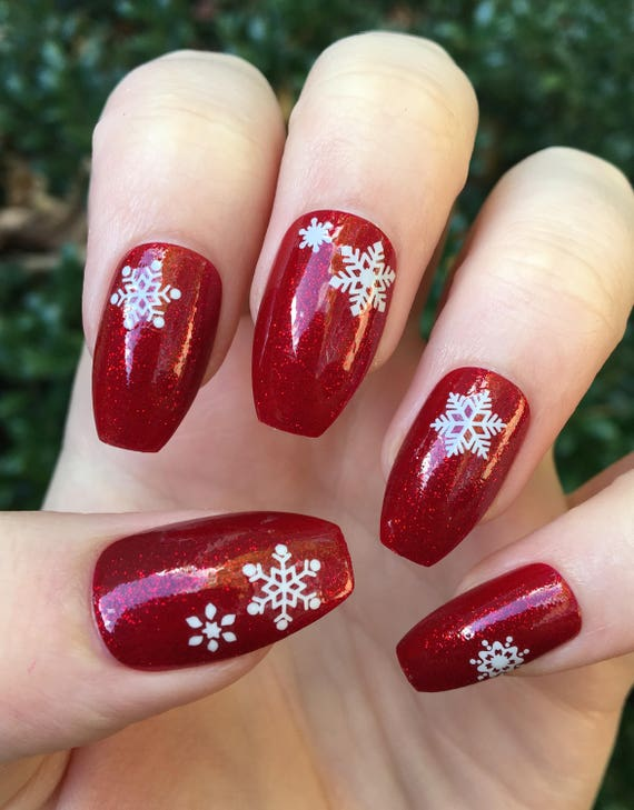 image 0 - Red Christmas Nails