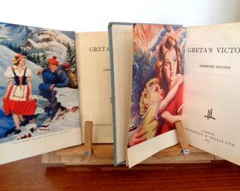 Set of 2 young adults novels Greta's Dream and Greta's Victory Ambrose Haynes vintage 1960s hardback books color colour plates 566
