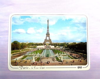 Vintage Used French postcard 1980s from France La Tour Eiffel Eiffel Tower stamped postmark French stamp 1986 SKU F