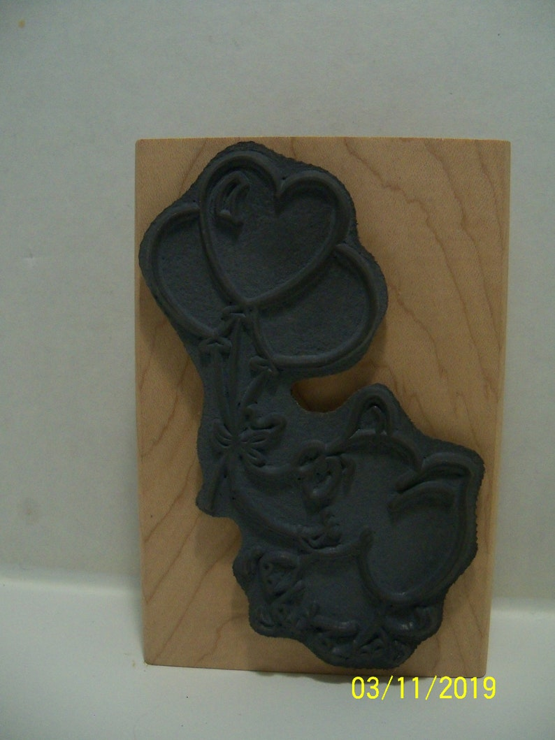 Elephant Ascent Stampendous wood mounted rubber stamp