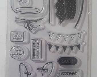 Recollections 25 piece clear stamp set