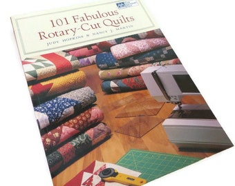 1998 101 Fabulous Rotary Cut Quilts Book Ships free! Martin By Judy Hopkins and Nancy J