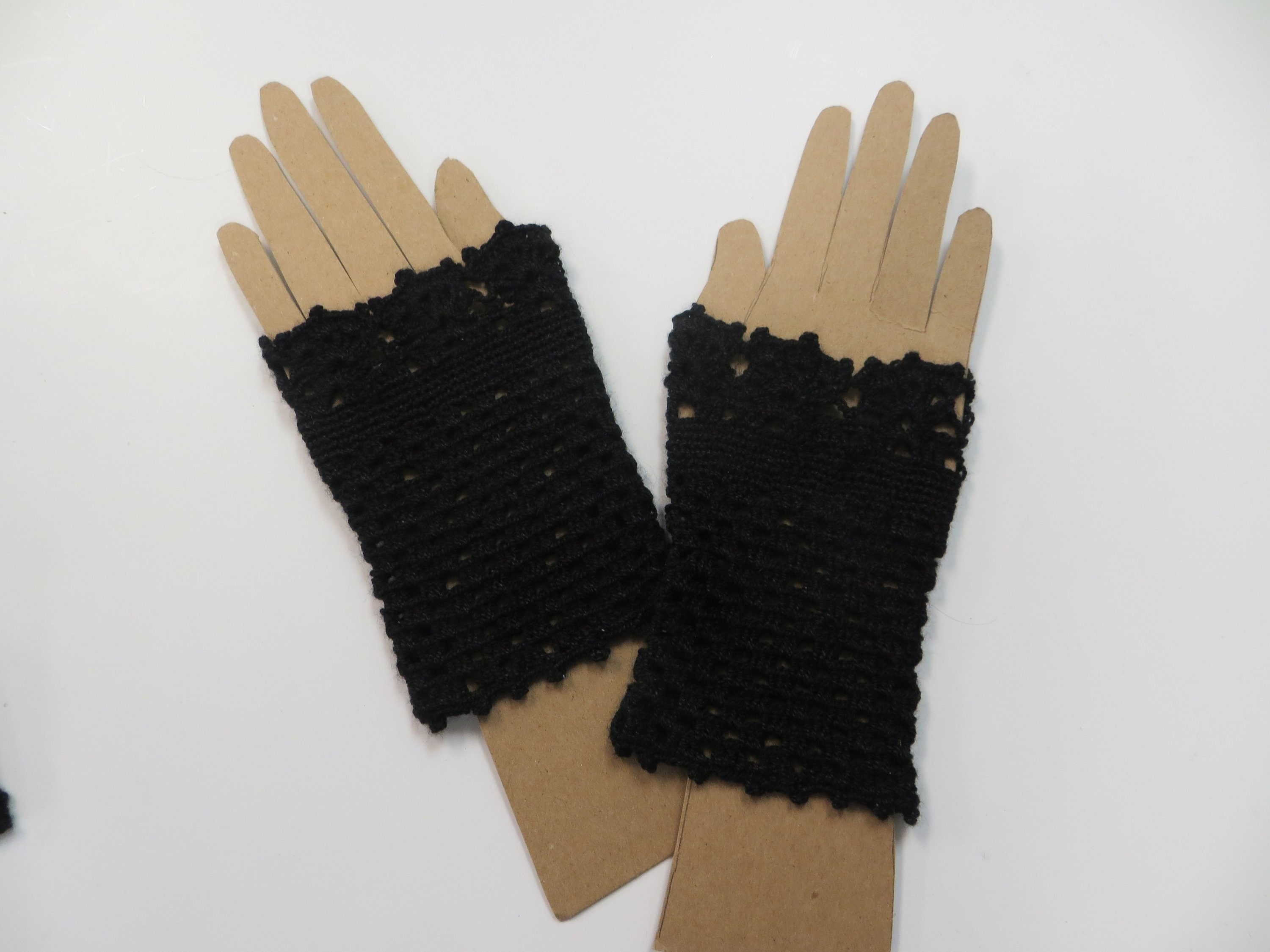 Brown Steampunk Fingerless Gloves Victorian Cosplay Adult One Size