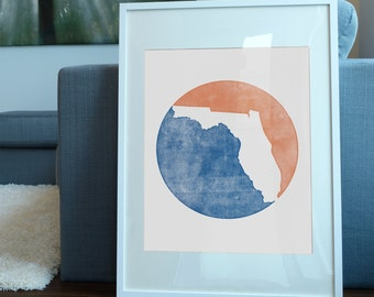 University of Florida Inspired print