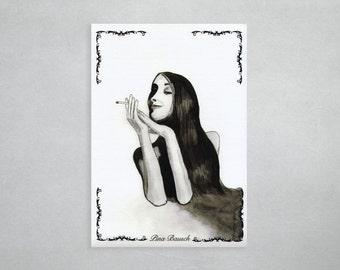 """Watercolour print """"Pina Bausch"""""""