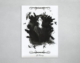 "Watercolour print ""PJ Harvey"""
