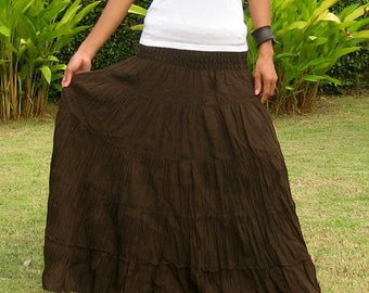 Long Maxi Skirt Tiered Skirt Hippie Skirt Bohemian Skirt | Etsy