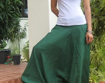 39f53ddea6 Smocked Harem Pants   Sarouel   Harem Baggy   Harem Trousers   Aladdin  Style   Yoga Pants   Boho   Travel   Gypsy  Hippie Jumpsuit  HS-green