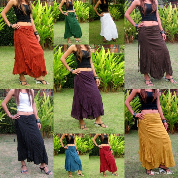 c589e328d09 Long Gypsy Wrap Skirt Flamenco Skirt Women Gypsy Skirt Bohemian Skirt Wrap  Skirt Hippie Skirt Bohemian Skirt Festival Free Shipping   SW