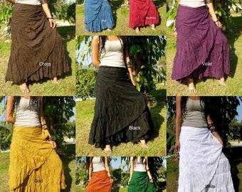 Sexy Wrap Skirt * Flamenco Skirt * Wrap Around Skirt * Skirts For Women * Sarong * Hippie * Bohemian * Boho * Gypsy * Festival *Thailand* SS