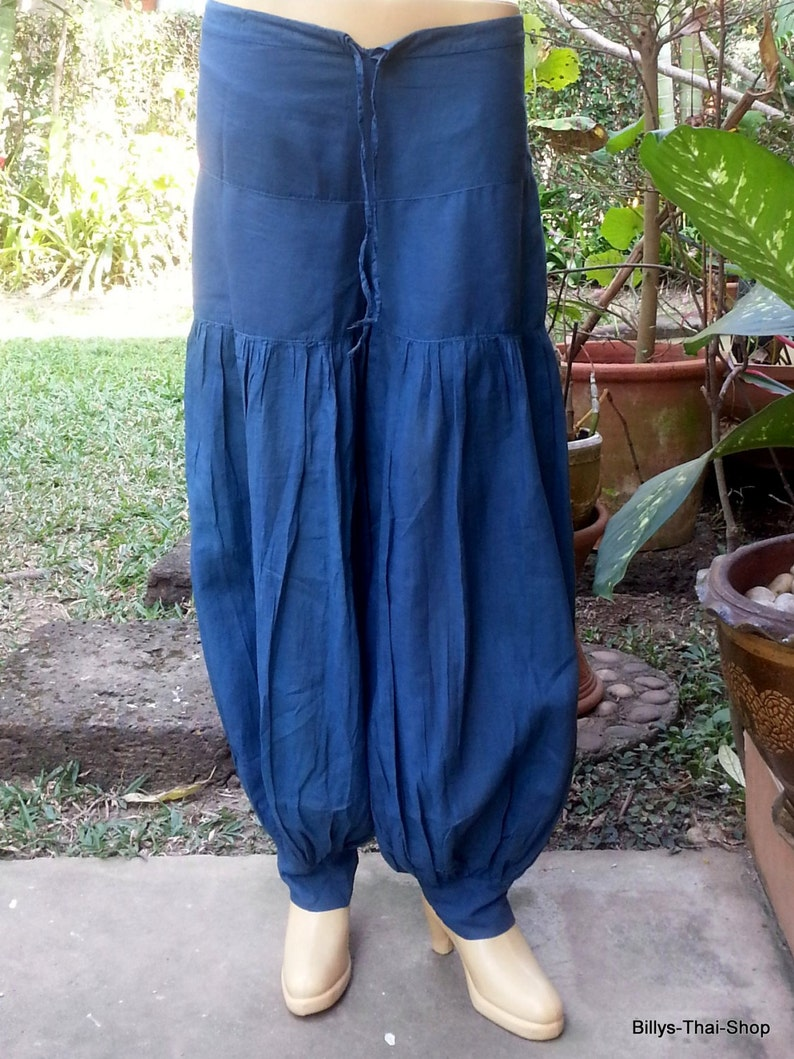 Baggy Pants Goa Pants Yoga Pants Travel Pants Aladdin Pants *Genie Pants*PM-blue Sarouel Trousers Gypsy Pants Hippie Pants