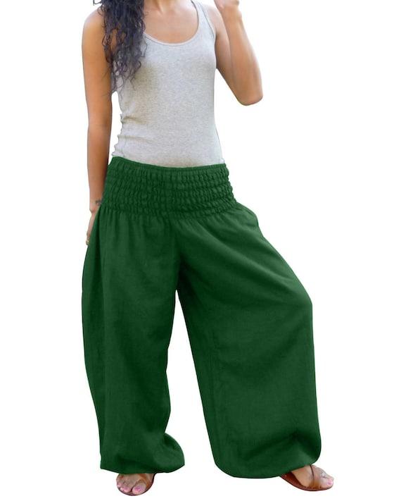 Harem Trousers XL Harem Pants Sarouel Harem Baggy *Yoga Pants*Travel Pants*Drop Crotch*white Size M Short Trousers Capri Pants
