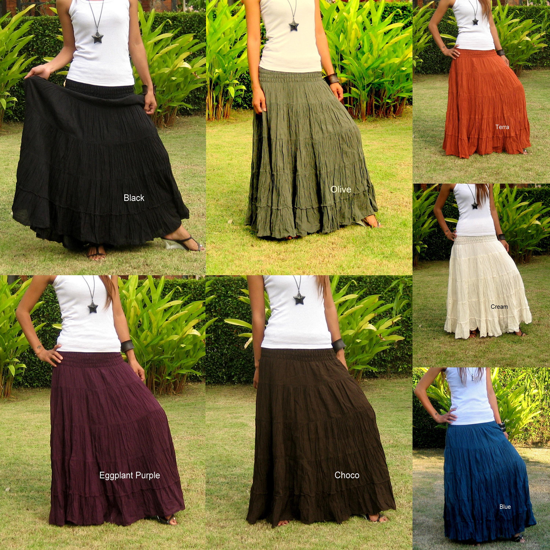 Plus Size Long Maxi Skirt Long Skirts for Women Boho Skirt Maxi Cotton  Skirt Long Hippie Skirt Bohemian Skirt  Free Shipping  XS   XXL