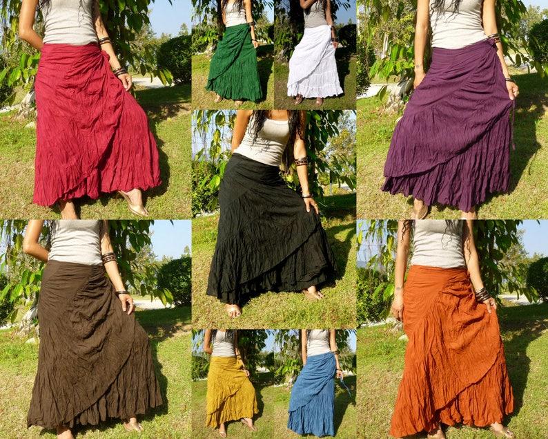 27667fcd0e6 Gypsy Wrap Skirt Flamenco Skirt Women Gypsy Skirt Tribal Skirt