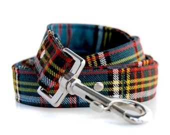 Tartan 4 foot leash in your choice of Tartan and 1 inch or .75 inch widths