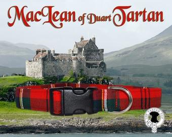 MacLean Tartan Dog Collar,,, Authentic tartan from the Scottish Clan MacLean