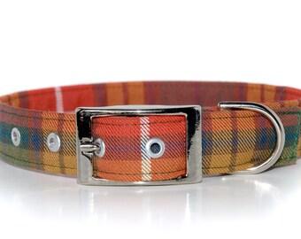 Tartan Belt Style Dog Collar in your choice of Scottish ClanTartans