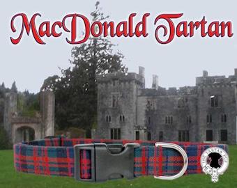 Scottish Tartan,MacDonald Tartan Dog Collar