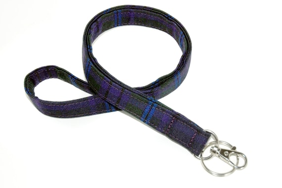 Tartan Lanyard For Id Badges Or Keys Made From Your Choice