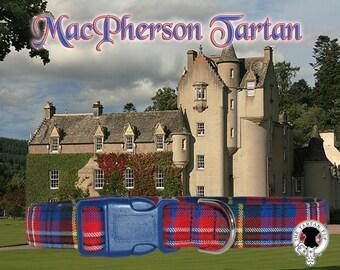 MacPherson Tartan Dog Collar