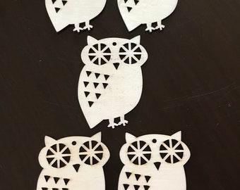 Owls/ laser cut wood owls/ wood owls/ wooden owls
