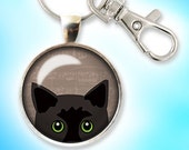 Cat Keychain, Black Cat K...