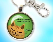 CSS Code Cat Keychain for...