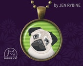 Black and Tan Pug Necklac...