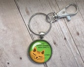 CSS Code Cat Keychain for Programmers Developers Coders office coworker gifts nerdy geeky nerd geek cute orange cat under 20 dollars html