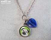 Tiny Pug Charm Necklace, ...