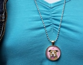 Tan Pitbull Necklace, Cut...