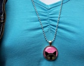 Black Cat Necklace, Pink ...