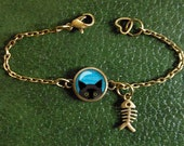 Peeking Cat Bracelet, Cut...