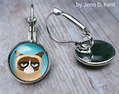 Grumpy Cat Earrings Cute ...