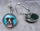 Dark Pitbull Earrings Blu...