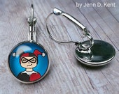 Harley Quinn Earrings Ill...