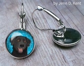Cute Black Lab Earrings B...
