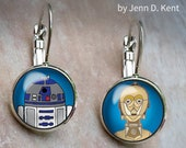 R2D2 C3PO Earrings, Mixed...