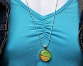 CSS Orange Cat Necklace P...