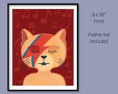 8x10 Print David Bowie Ca...