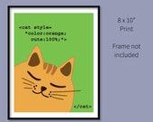 """8x10"""" CSS Code Orang..."""